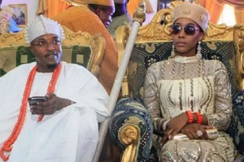 IMPERIAL OLUWO OF THE IWO KINGDOM AND HIS QUEEN, CHANEL CHIN. (PHOTO: NAJI.COM)