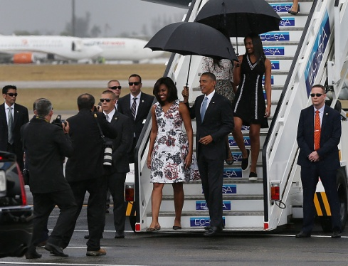 U.S President Barack Obama and the First Famiy Arrives In Cuba